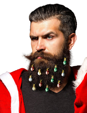 Beardaments Grab 'Em By The Beard Bundle - Beard Ornaments with Make Beards Great Again Hat-Beardaments-Red Hat with Basic Ornaments-Beardaments Beard Ornaments Glitter