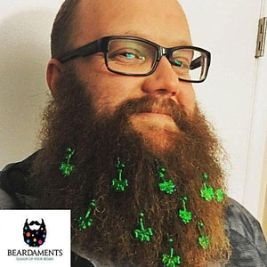 Beardaments St. Patrick's Day Beard Ornaments-Beard Ornaments-Beardaments-Beardaments Beard Ornaments Glitter