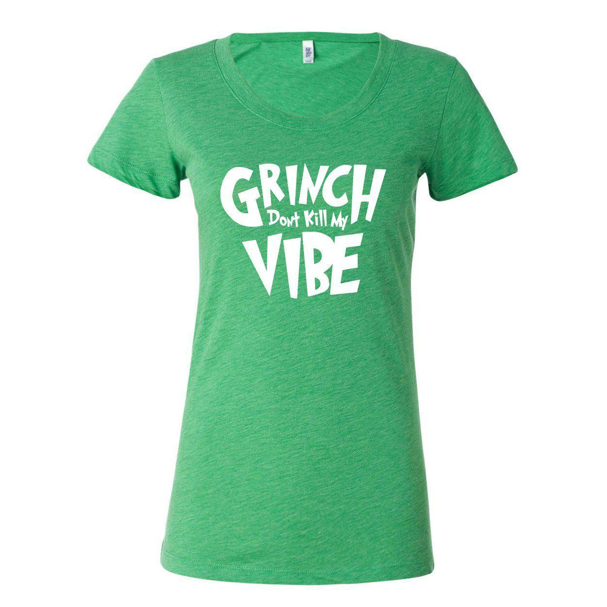Grinch Don't Kill My Vibe Women's T-Shirt-Apparel-Beardaments-Small-Beardaments Beard Ornaments Glitter