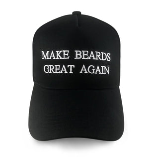 Make Beards Great Again (MBGA) Hat-Hat-Beardaments-Patriotic Red-Beardaments Beard Ornaments Glitter