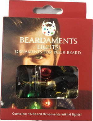 NEW! Beardaments Lights- Light Up Beard Ornaments-Beard Ornaments-Beardaments-Beardaments Beard Ornaments Glitter