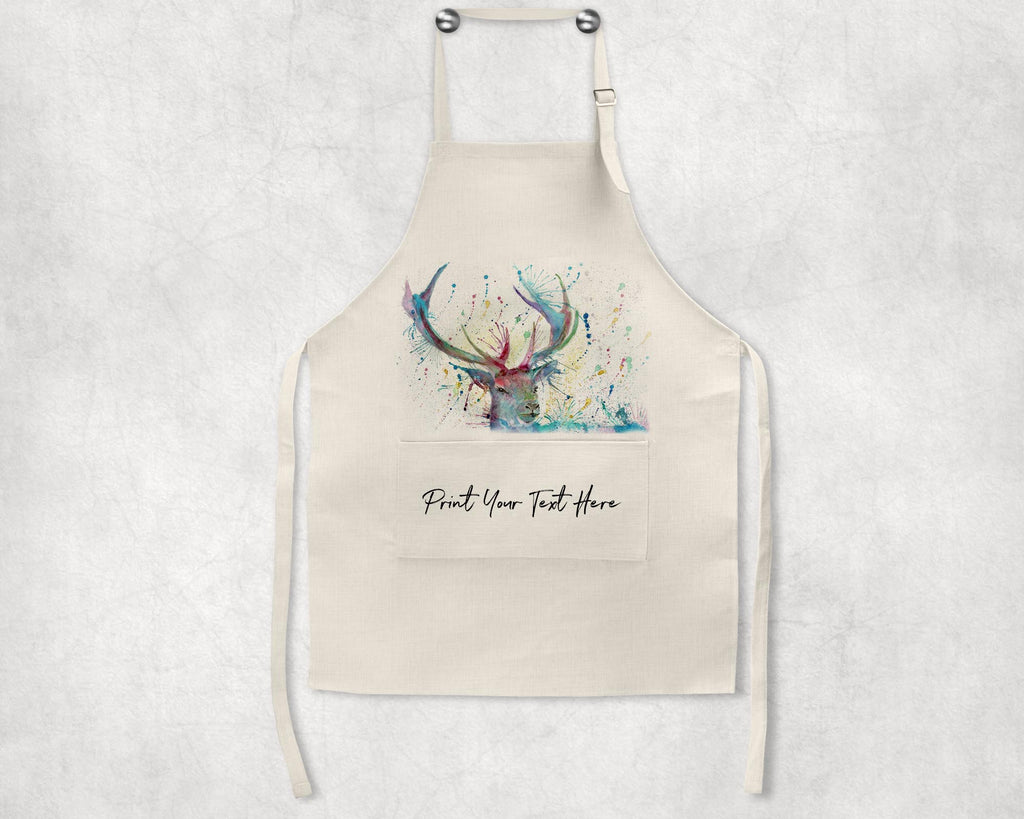 """Proud"" Stag Personalised Apron"