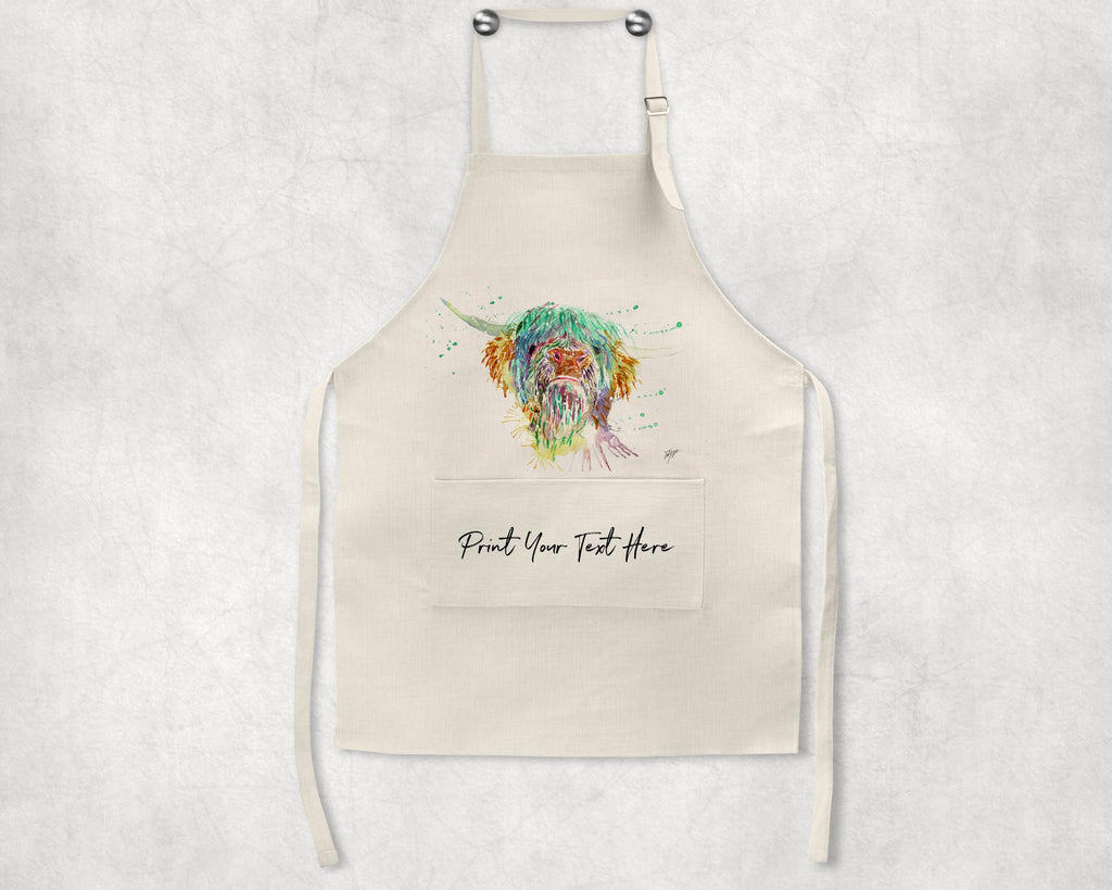 Highland Cow Personalised Apron