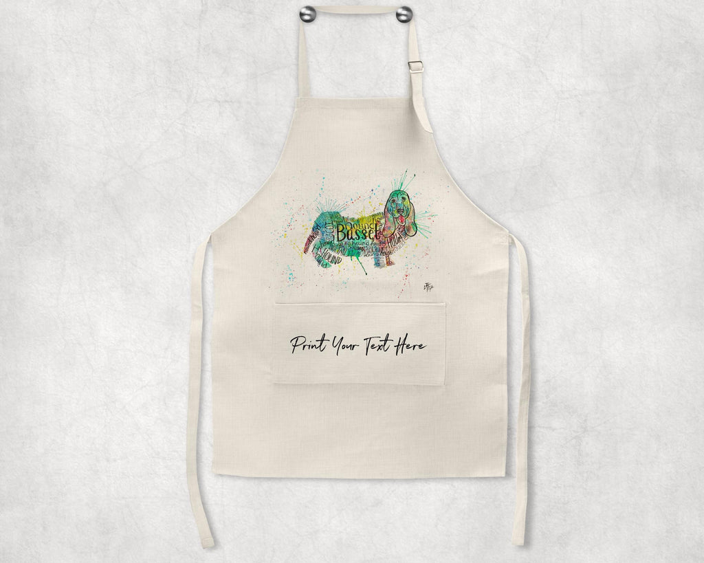 Basset Splash Personalised Apron