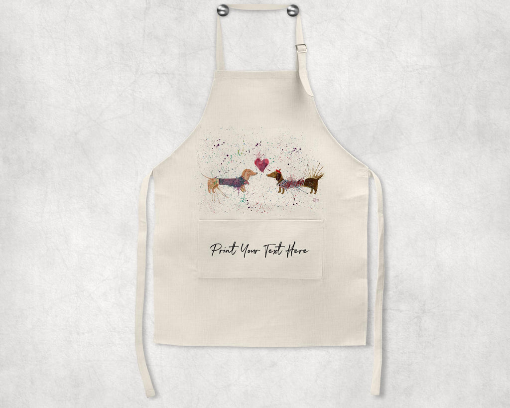 Sausage Dogs in Love Personalised Apron