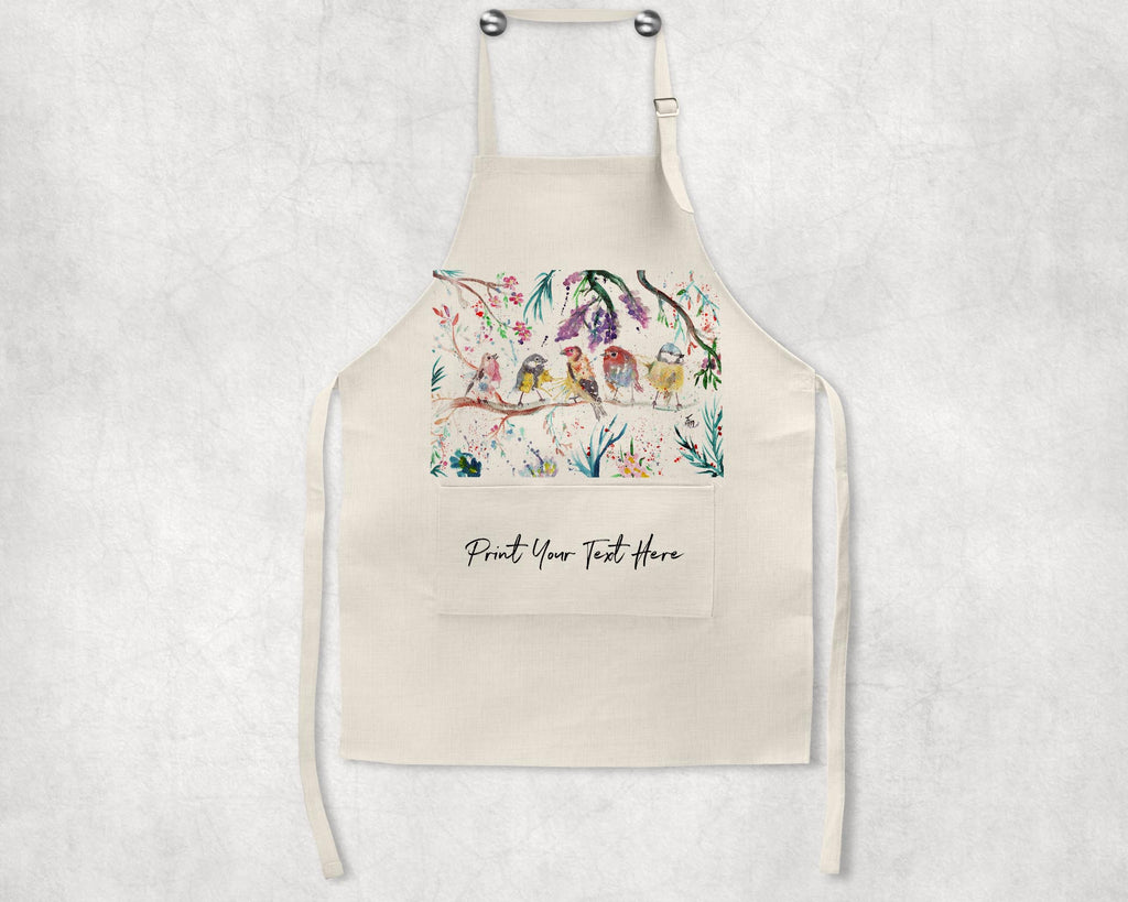 """Tree Friends"" Birds Personalised Apron"