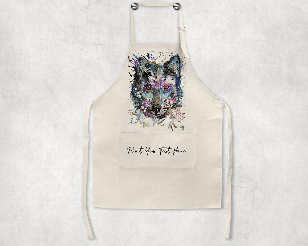 """Howl"" Wolf Personalised Apron"