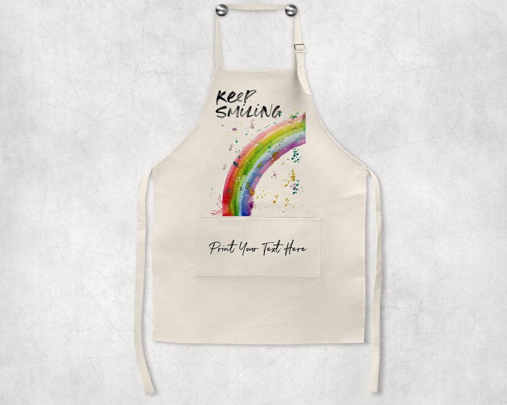 Keep Smiling Rainbow Personalised Apron