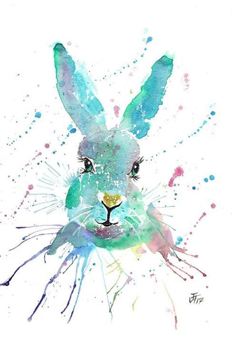 """Minty"" hare original A3 water colour"