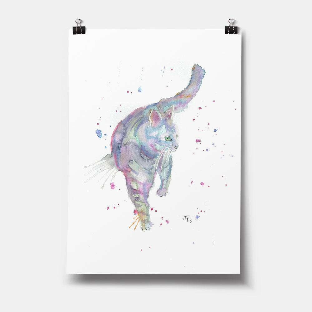 Rainbow Cat Art Print
