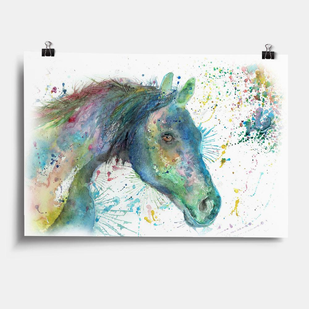 """Neigh"" Horse Art Print"