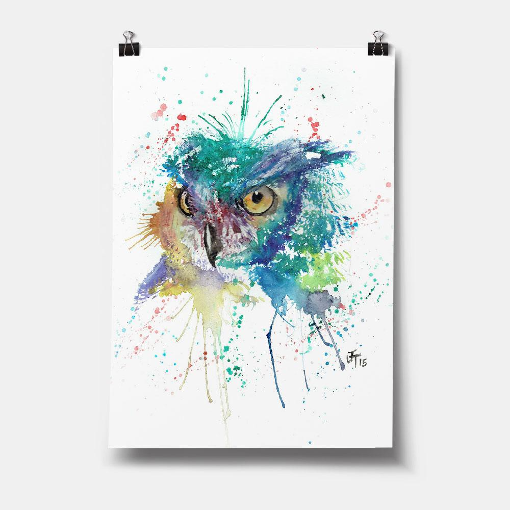 """Wise"" Owl Art Print"