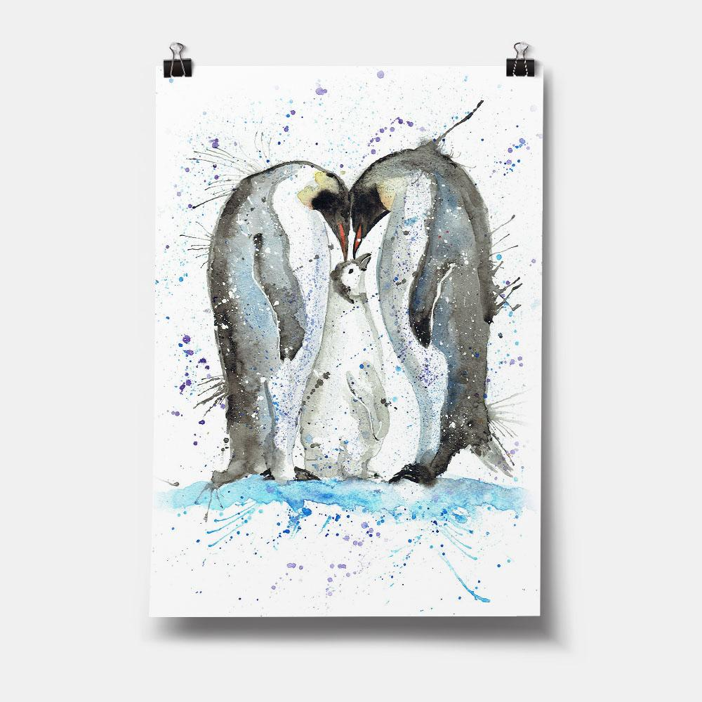 Family Penguins Art Print