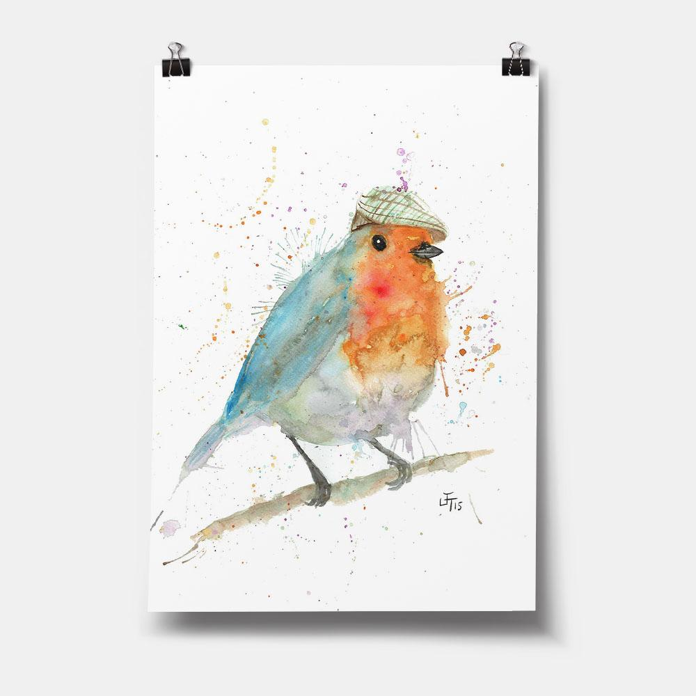 Mr Robin Art Print
