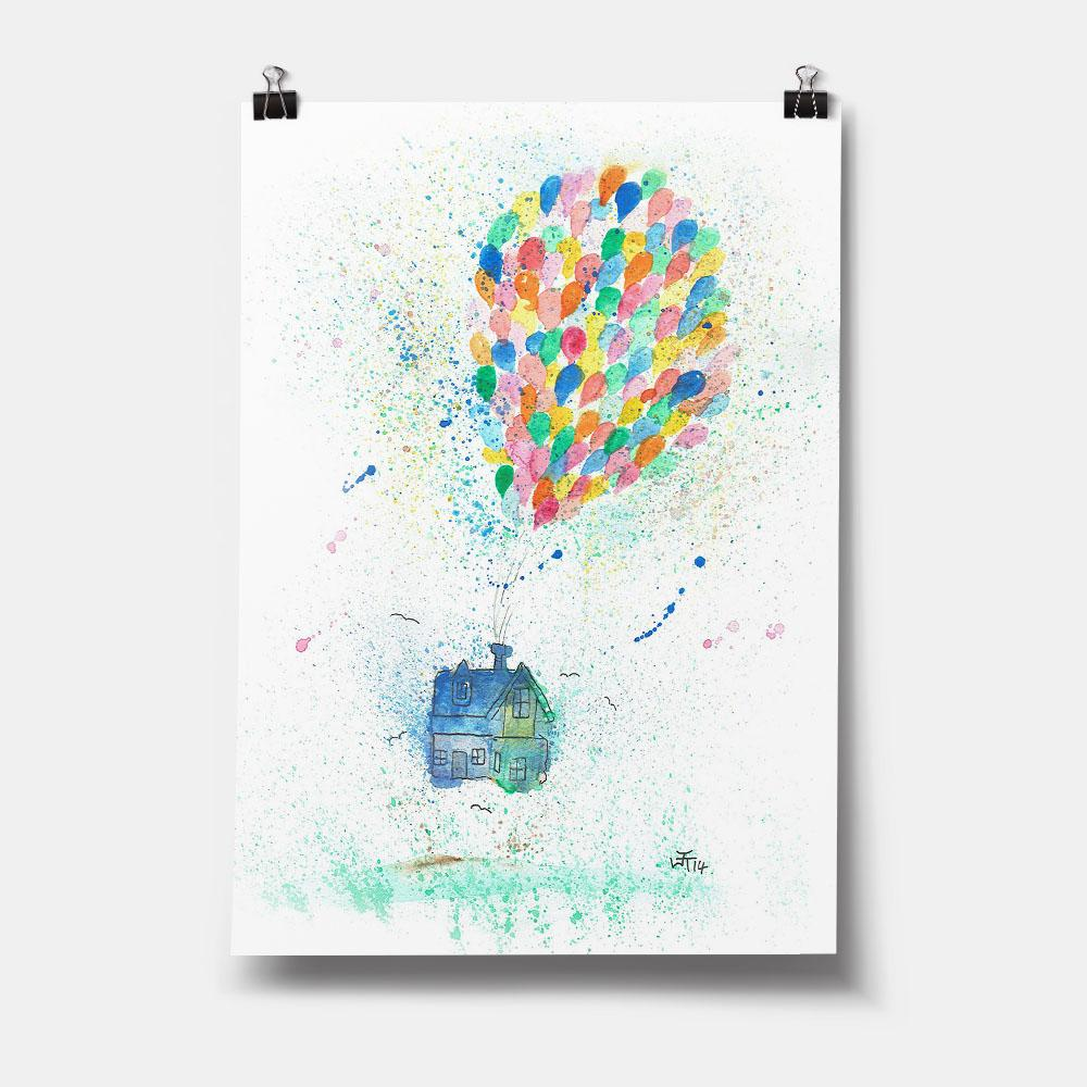Balloon House Art Print