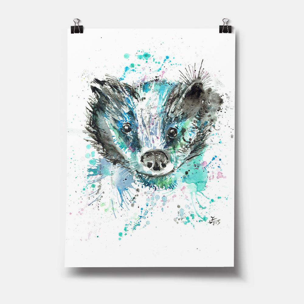 """Baz"" Badger Art Print"