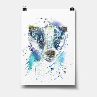 """Badge"" Badger Art Print"