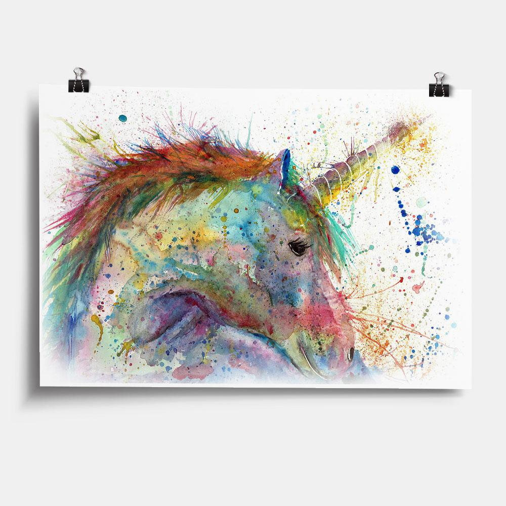"""Swirl"" Unicorn Art Print"