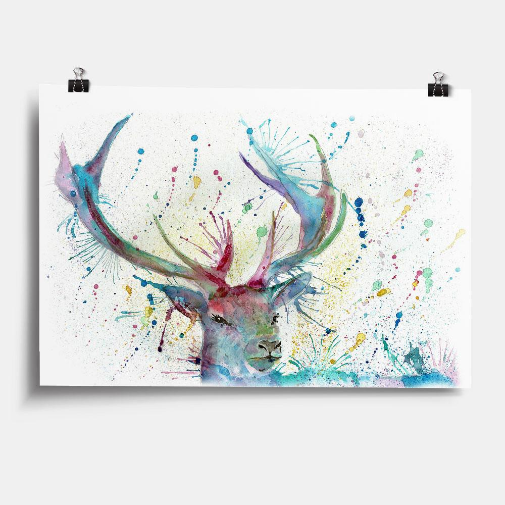 """Proud"" Stag Art Print"
