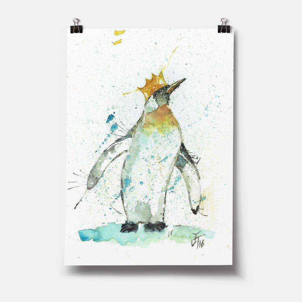 Party Penguin Art Print