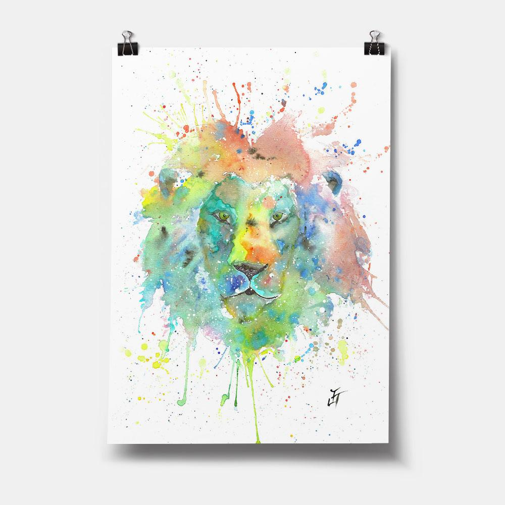 """King"" Lion Art Print"