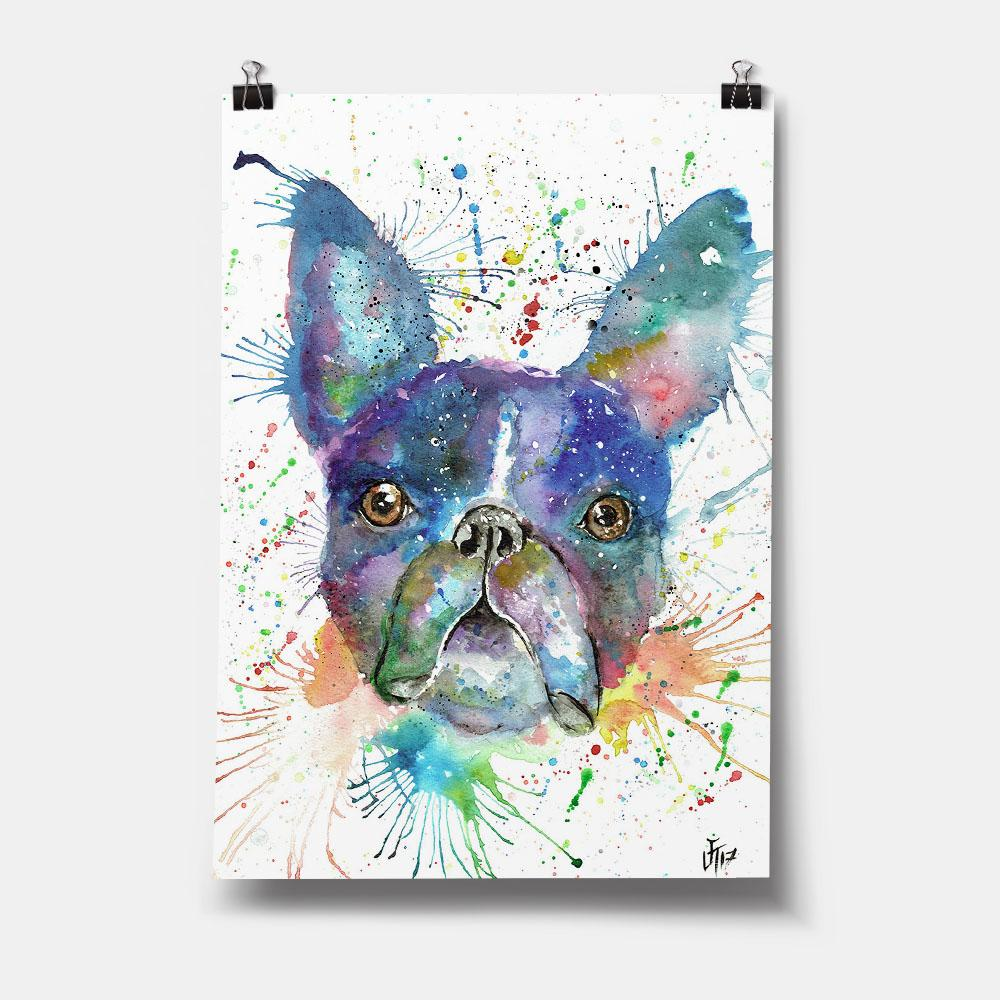 """Bruno"" Boston Terrier Art Print"
