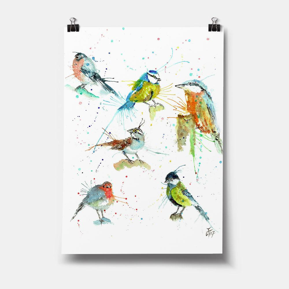 Brit Birds Art Print