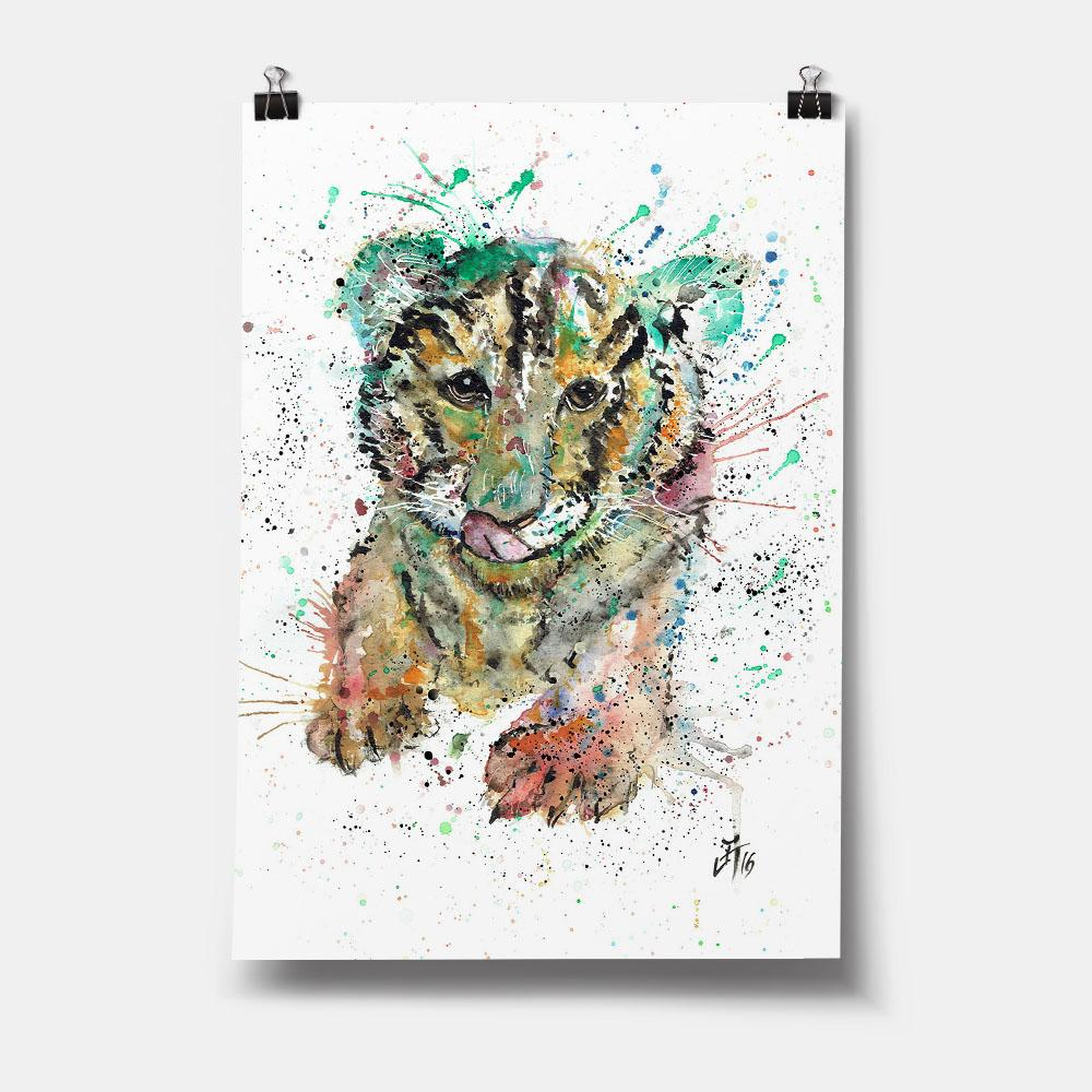 """Franklin"" Tiger Cub Art Print"
