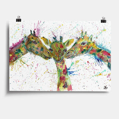 """Together"" Giraffes Art Print"