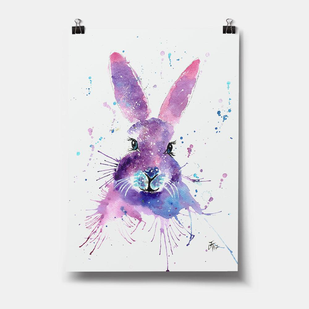 """Berry"" Hare Art Print"