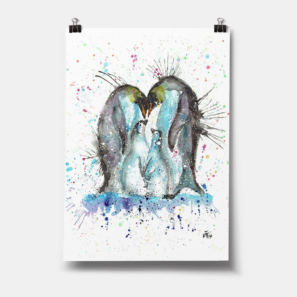 """Home"" Penguins Art Print"