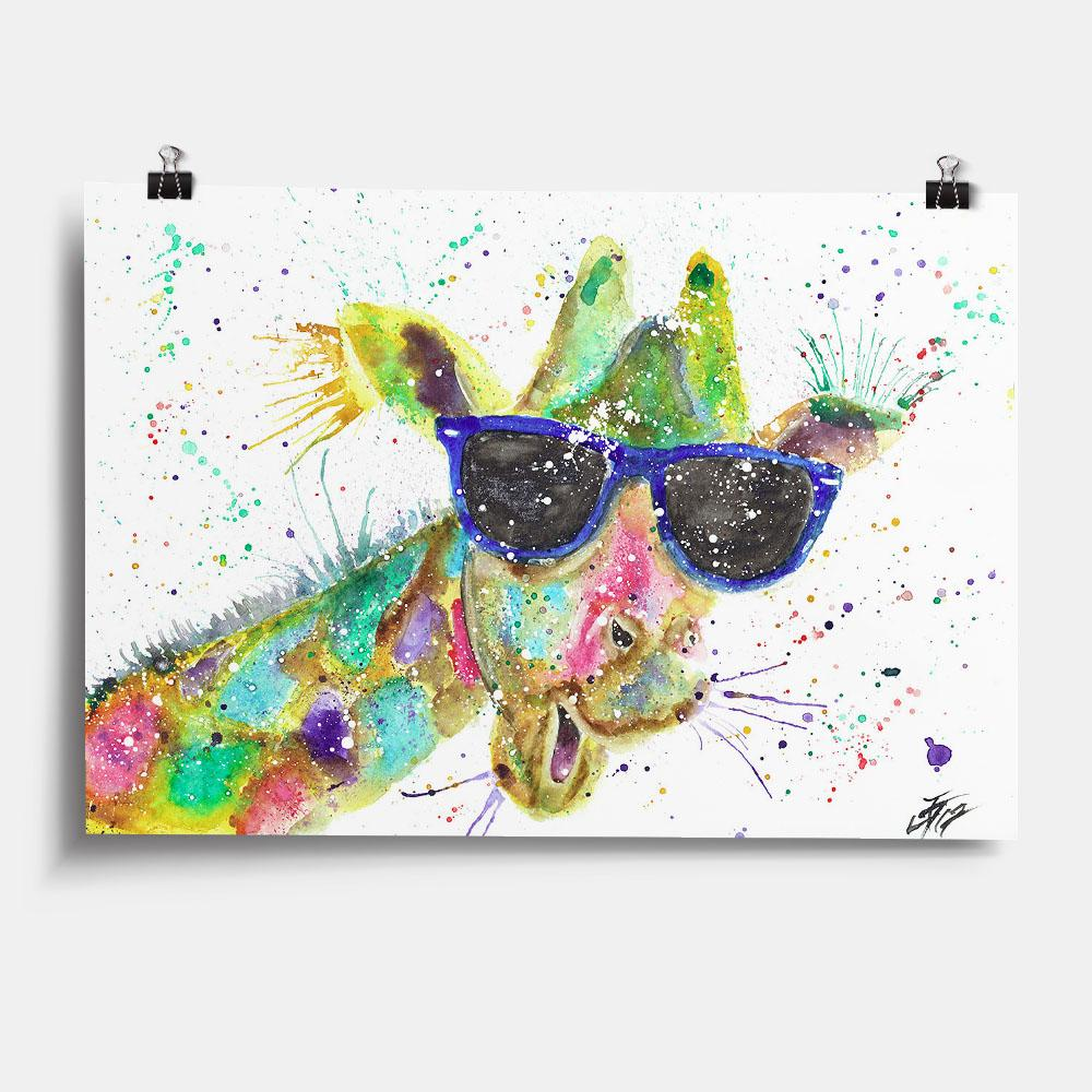 """Keith"" Giraffe Art Print"