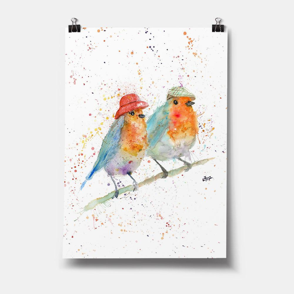 Mr & Mrs Robin Art Print