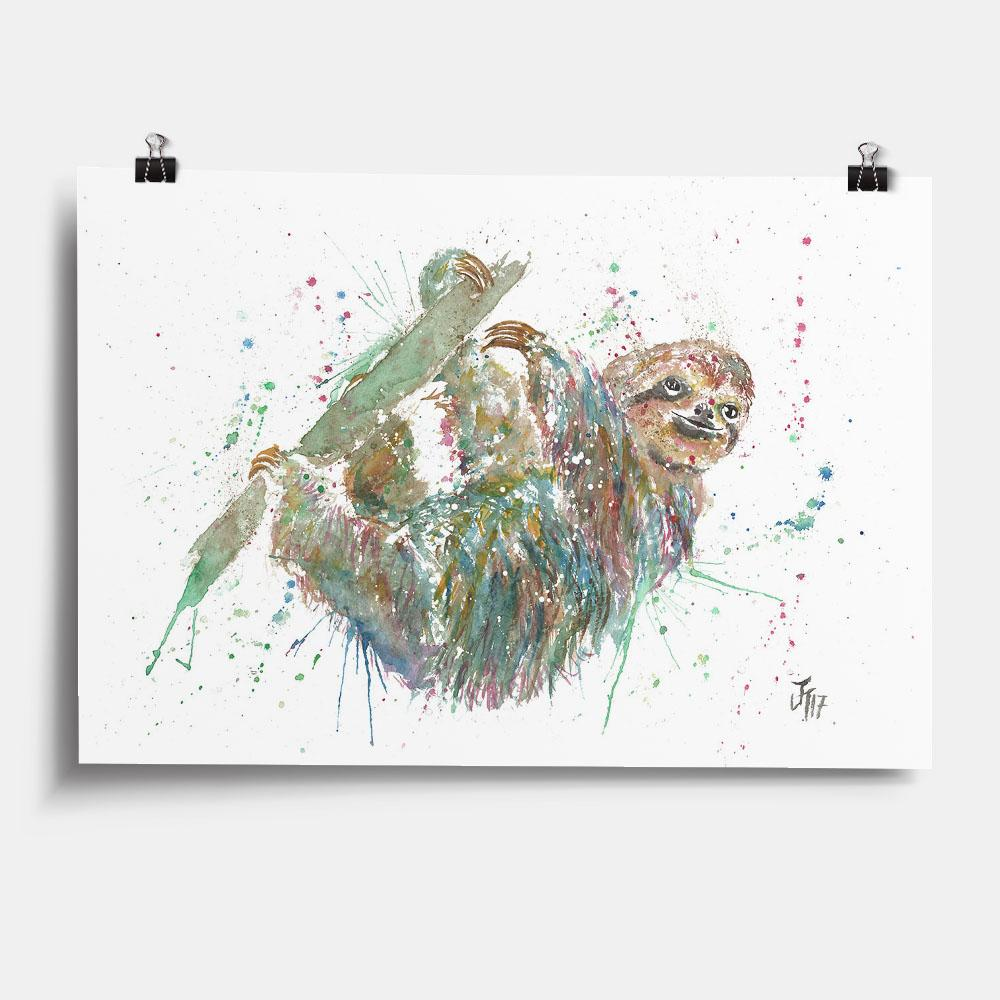 Hey Mr Sloth Art Print