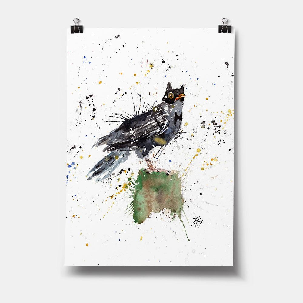 Blackbird Batman Art Print