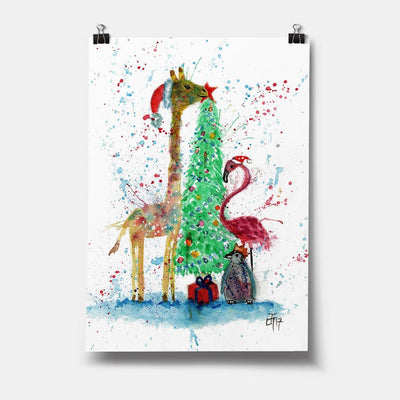 Christmas Pals Art Print