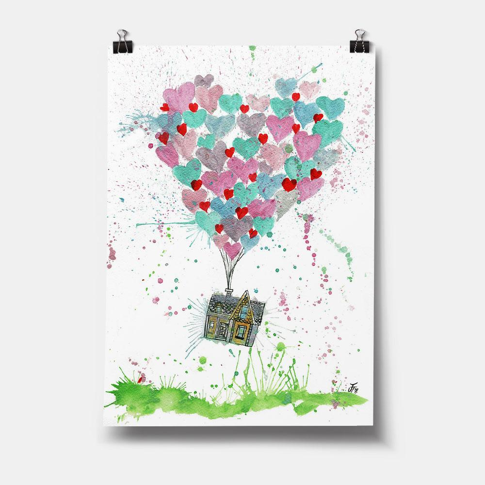 Valentines Up Art Print