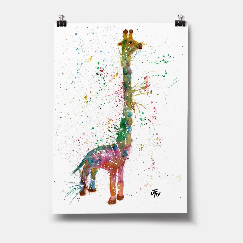 """Lofty"" Giraffe Art Print"