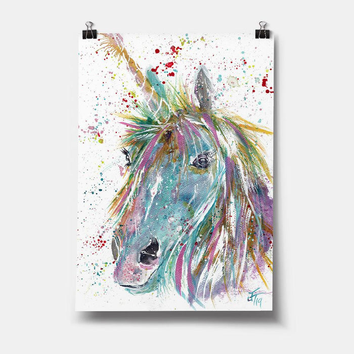"""Millie"" Unicorn Art Print"