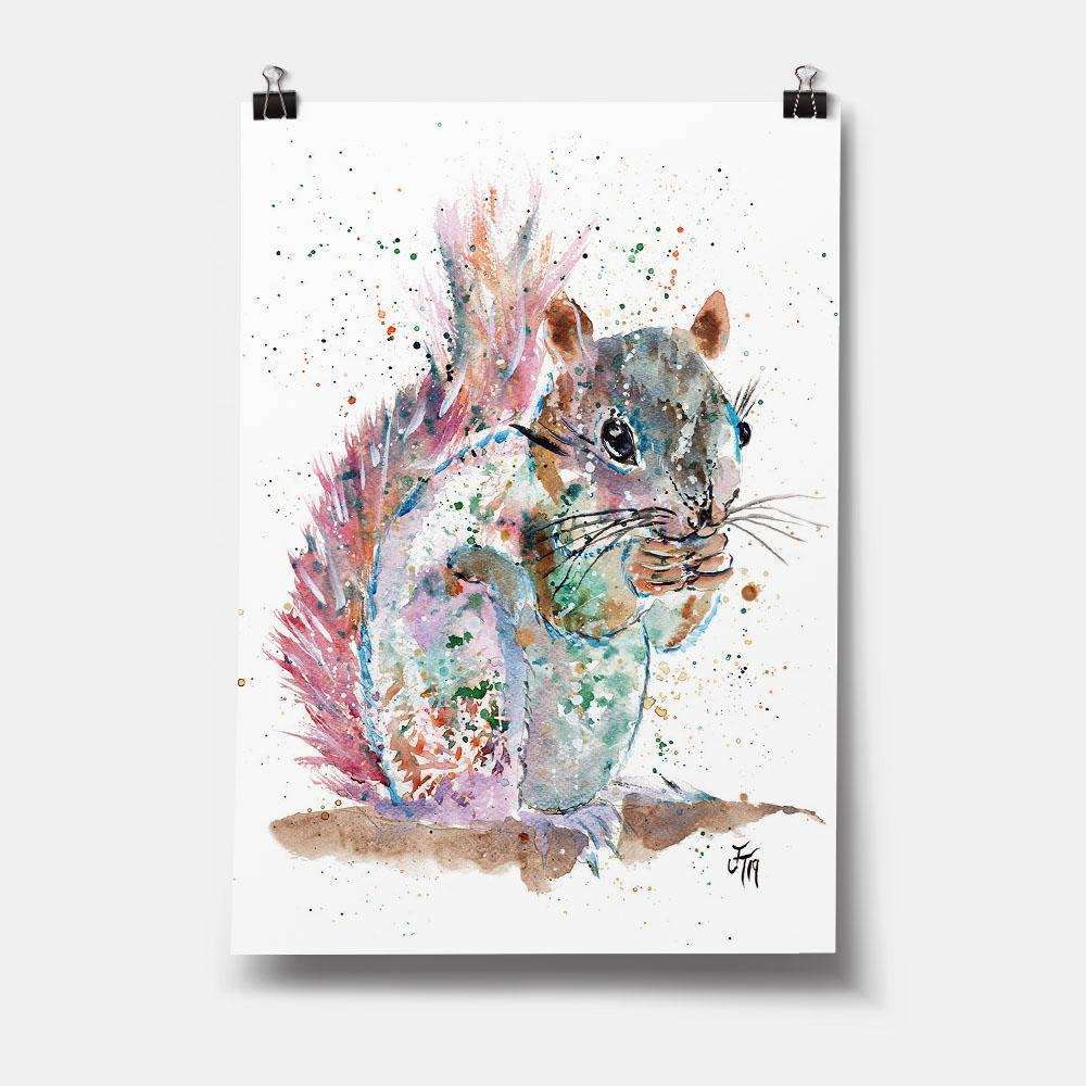 """Nige"" Squirrel Art Print"