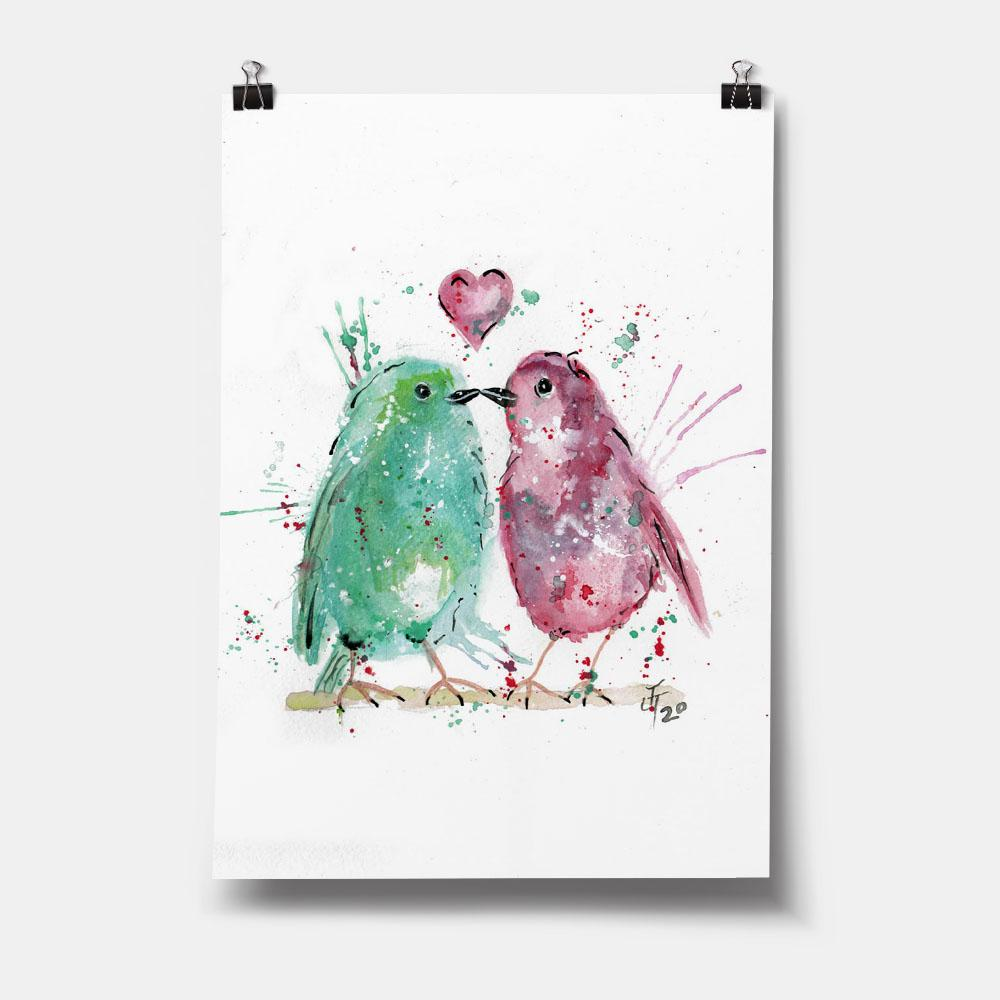 Tweet Heart Art Print