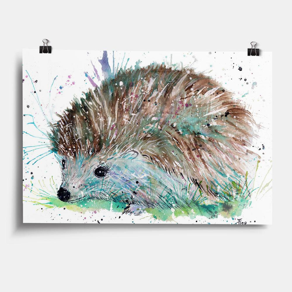 """Sweet"" Hedgehog Art Print"