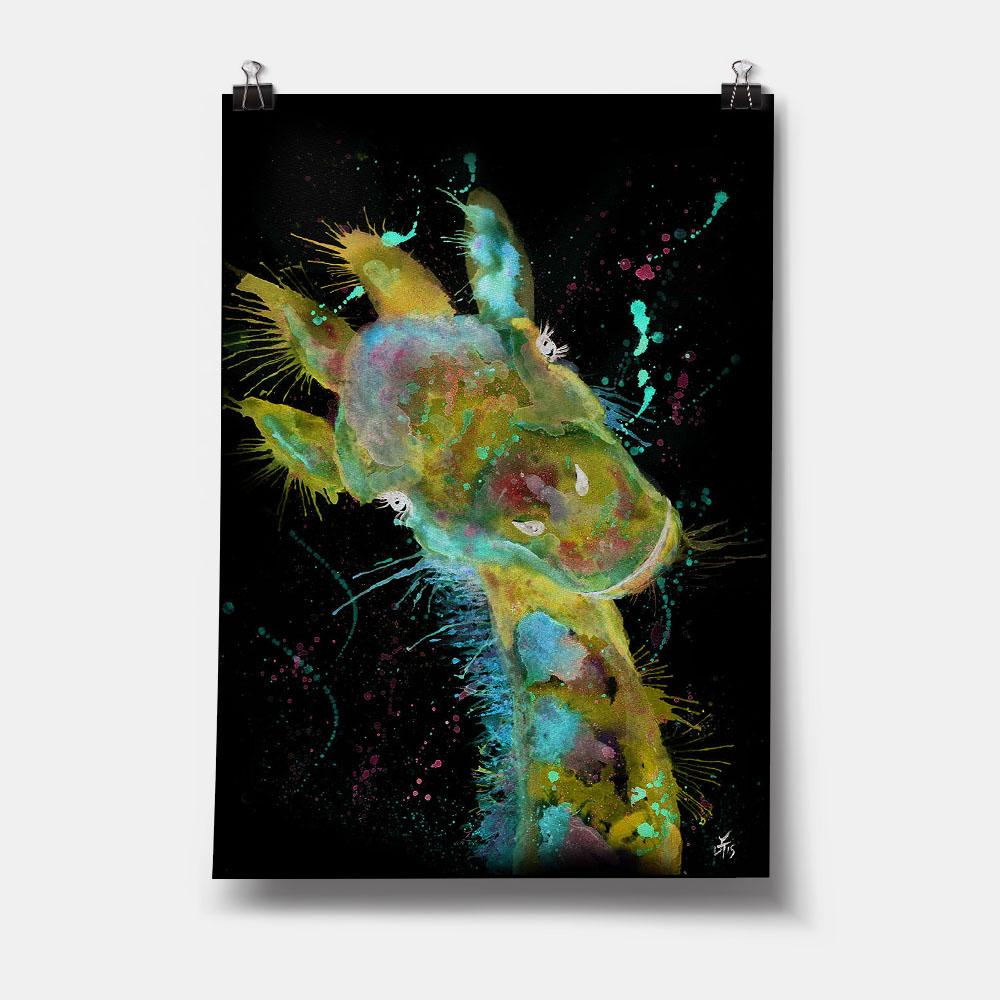 """Hattie"" Giraffe Enchanted Art Print"