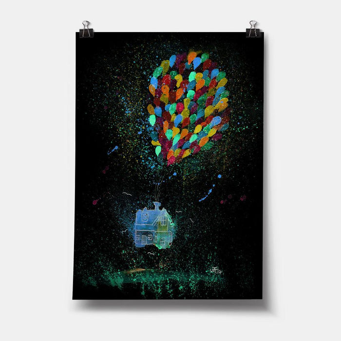 Balloon House Enchanted Art Print