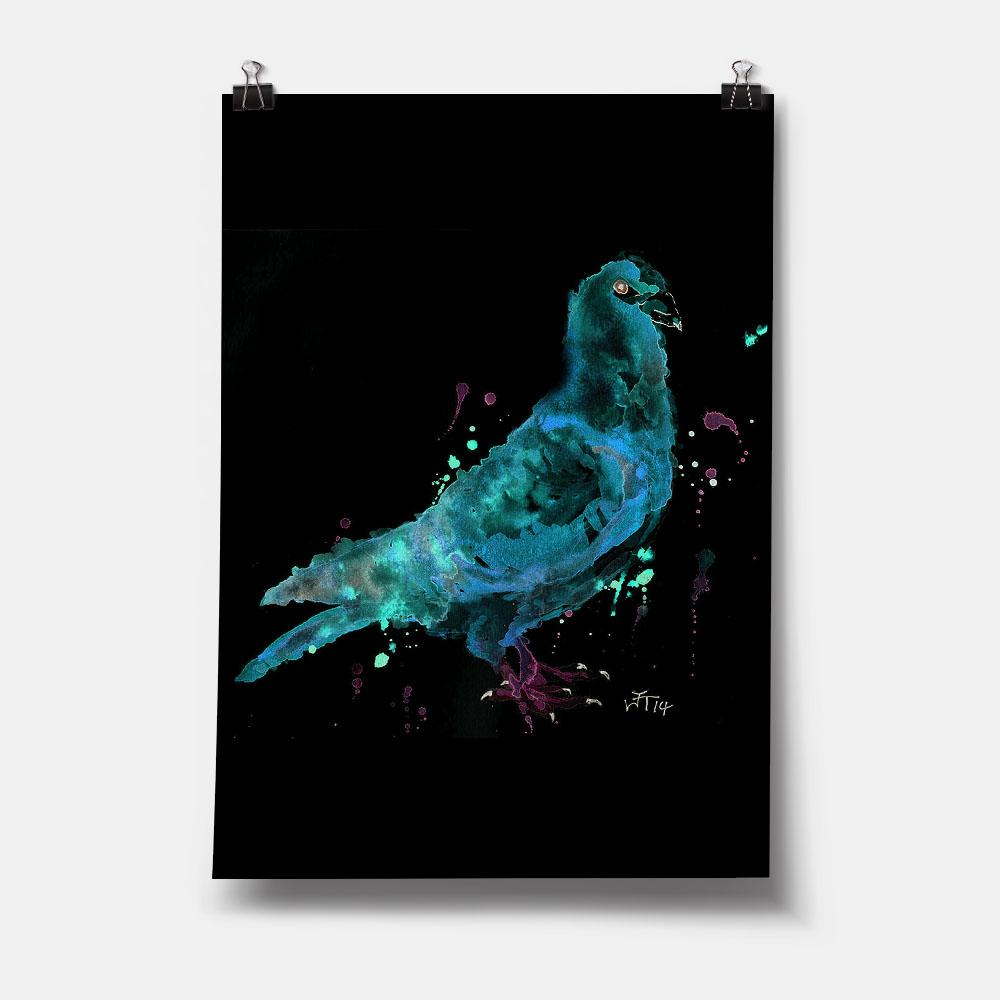 """Pete"" Pigeon Enchanted Art Print"