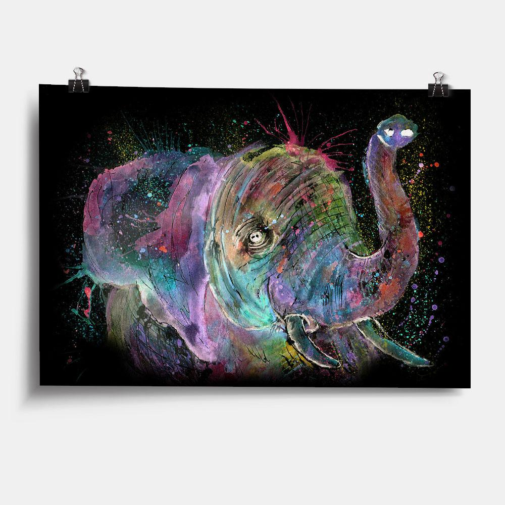 """Ele"" Elephant Enchanted Art Print"
