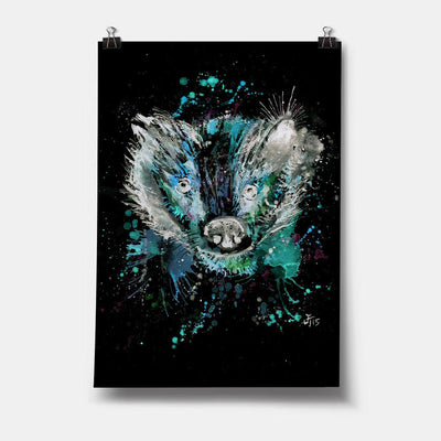 """Baz"" Badger Enchanted Art Print"
