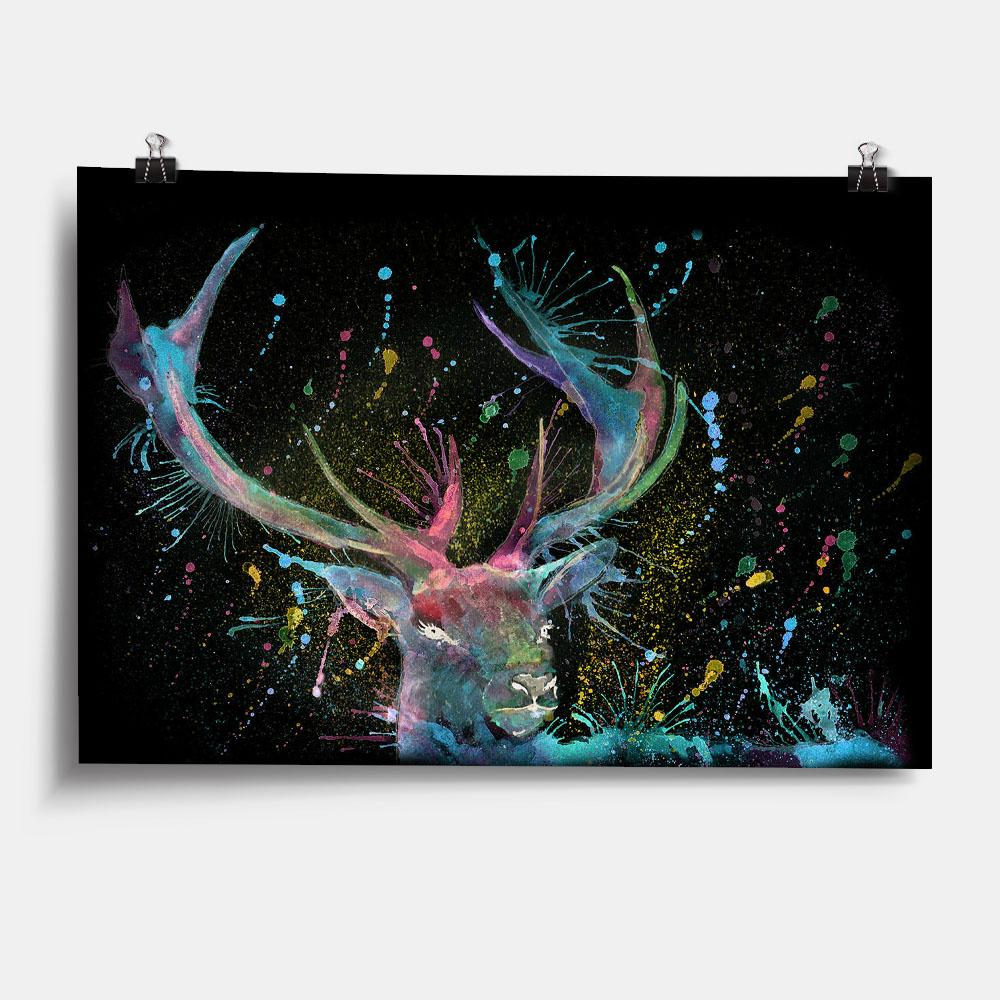 """Proud"" Stag Enchanted Art Print"