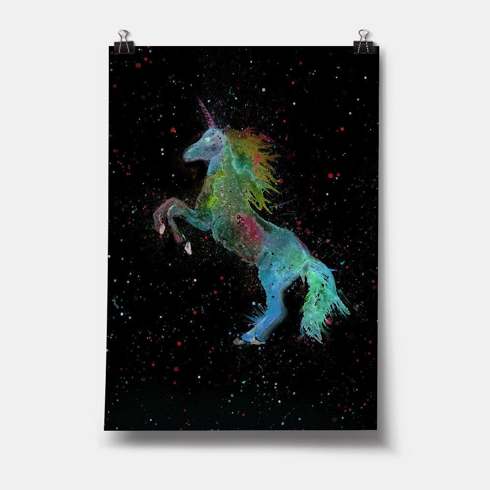 Rainbow Unicorn Enchanted Art Print