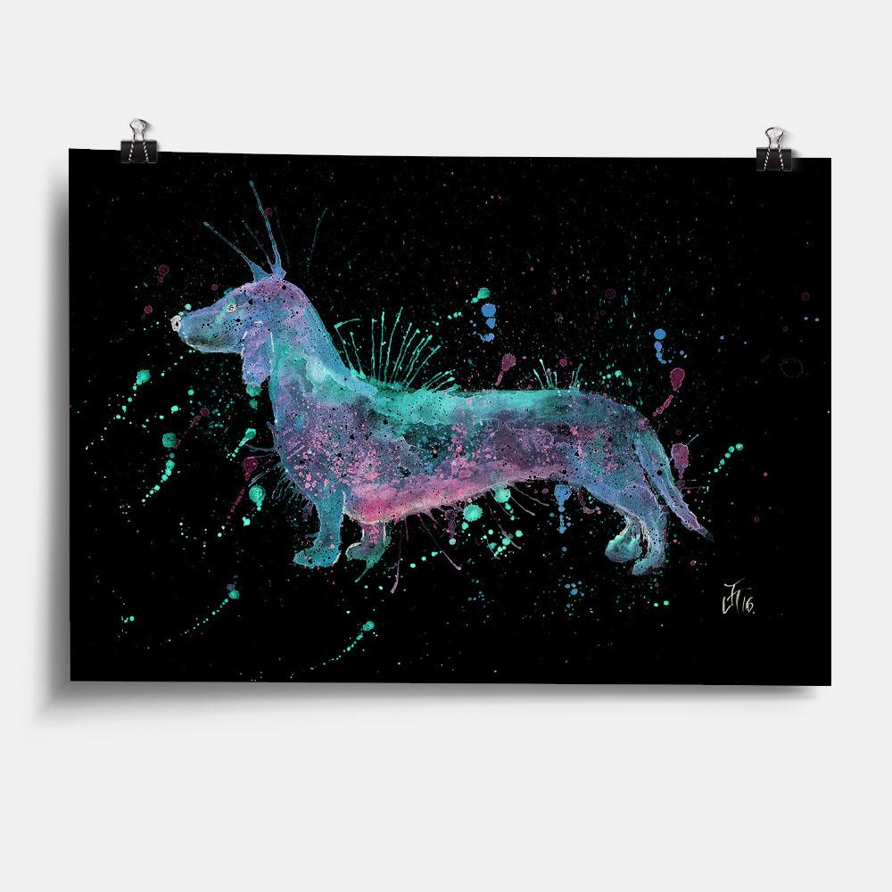 Mr Sausage Dog Enchanted Art Print
